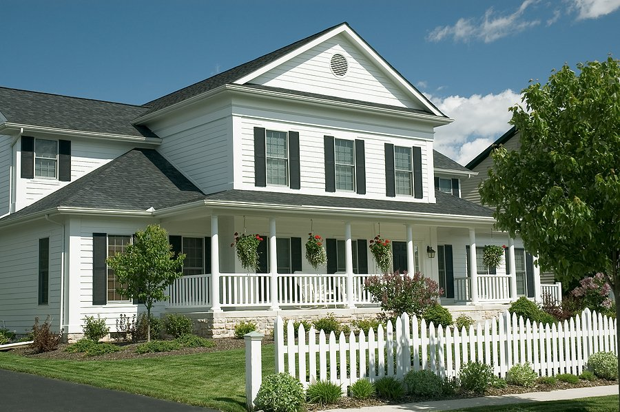 home with picket fence